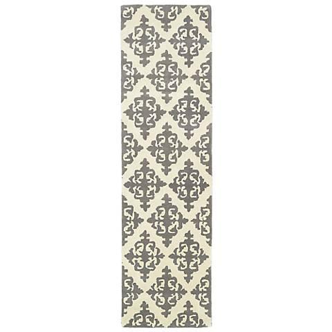 Kaleen Evolution EVL05-75 Gray Wool Area Rug
