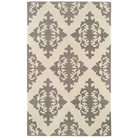 Kaleen Evolution EVL05-75 Gray Wool Area Rug