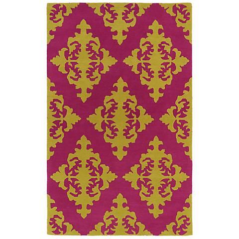 Kaleen Evolution EVL05-92 Pink Wool Area Rug