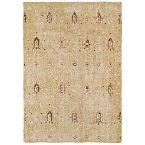 Kaleen Restoration RES01-05 Gold Wool Area Rug