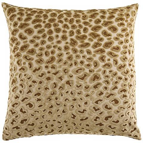 "Cheetah Gold 20"" Square Decorative Pillow"
