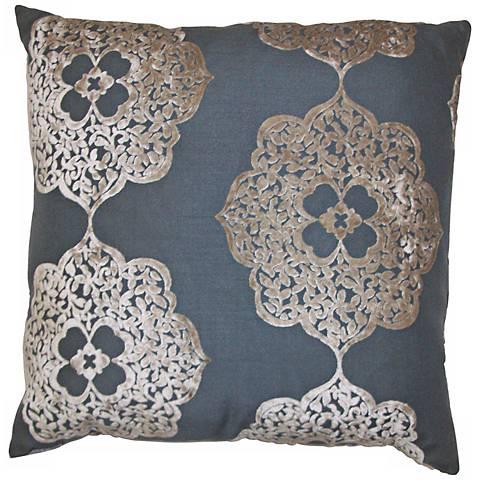 """Maison Wheat 24"""" Square Decorative Pillow"""