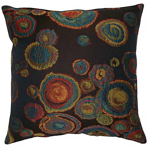 "Chuhily Black 20"" Square Decorative Pillow"