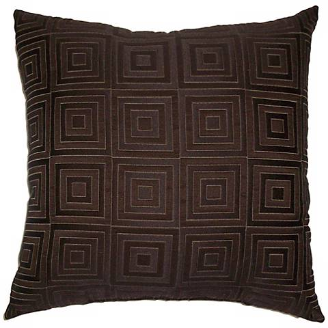 "Chocolate Brown Squared 20"" Square Decorative Pillow"