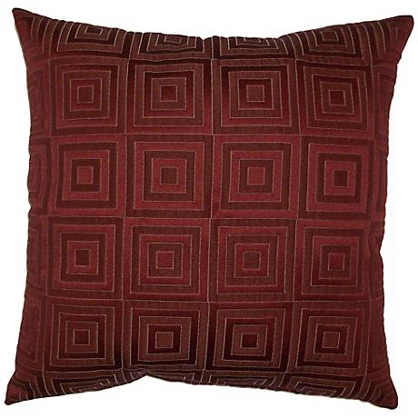 """Rust Red Squared 20"""" Square Decorative Pillow"""
