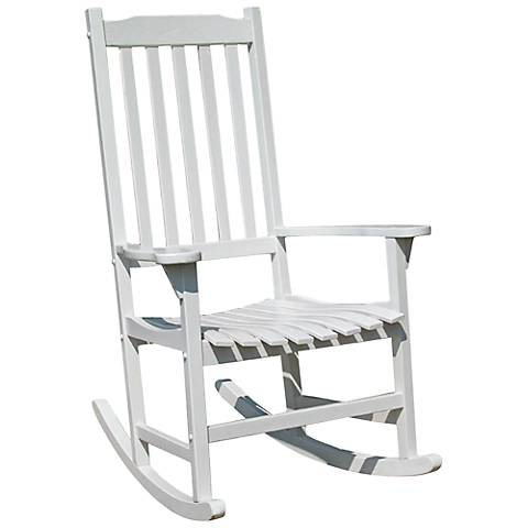 Parklawn White Acacia Outdoor Traditional Rocking Chair