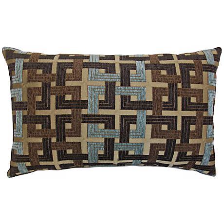 """Connections Aqua 14"""" x 22"""" Decorative Lumbar Pillow"""