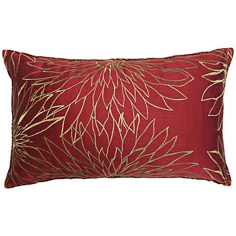 "Friddle Wine 14"" x 22"" Decorative Lumbar Pillow"