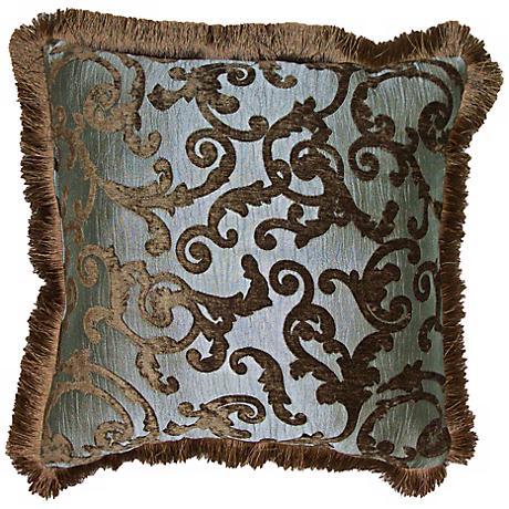 "Lampassi Damask 20"" Square Decorative Pillow"