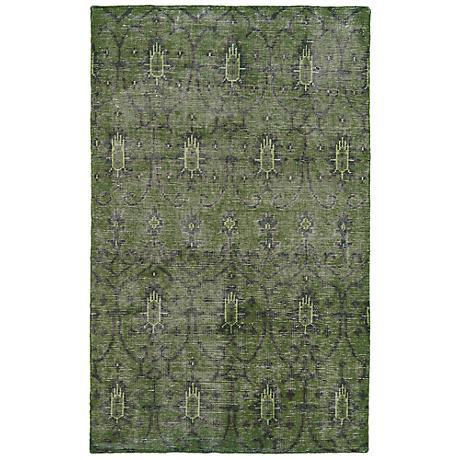 Kaleen Restoration RES01-50 Green Wool Area Rug