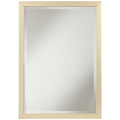 "Renold Champagne Silver 20"" x 28"" Wood Wall Mirror"