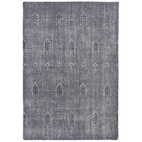 Kaleen Restoration RES01-75 Gray Wool Area Rug