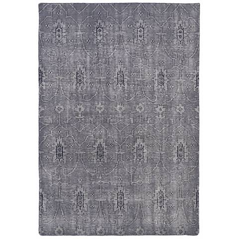 Kaleen Restoration RES01-75 Gray Wool Area Rug