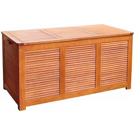Collins Natural Eucalyptus Outdoor Cushion Storage Deck Box