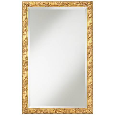 """Brianne Gold Leaf 20 3/4"""" x 32 3/4"""" Wall Mirror"""