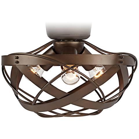 Orbital Weave Oil-Rubbed Bronze Fan Light Kit