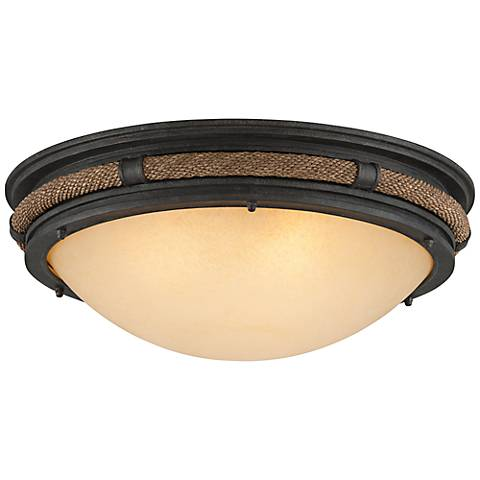 """Pike Place 21"""" Wide Shipyard Rope Ceiling Light"""