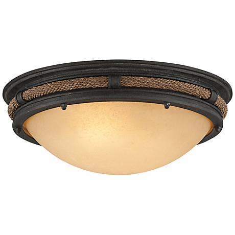 """Pike Place 16 3/4"""" Wide Shipyard Rope Ceiling Light"""