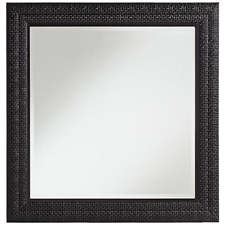 """Radner Black Crocodile 34"""" Square Wall Mirror"""