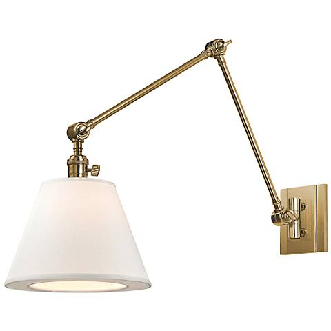 "Hudson Valley Hillsdale 10"" Wide Swivel Brass Wall Sconce"