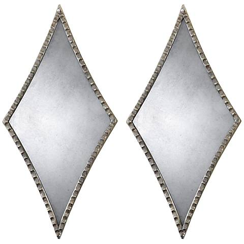 "Uttermost Gelston Diamond 27 1/4"" High Wall Mirrors Set of 2"