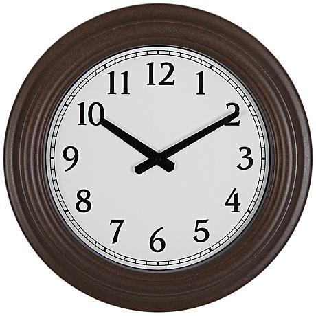 "Newnan Rust and Brown 16"" Round Wall Clock"