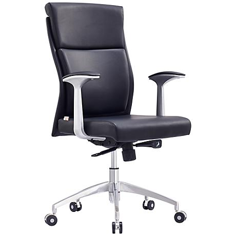 Harvard Black Faux Leather Low Back Office Chair
