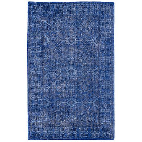 Kaleen Restoration RES04-17 Blue Wool Area Rug