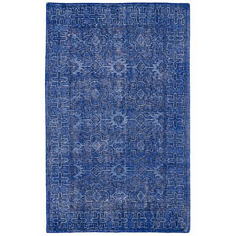 Kaleen Restoration RES04-17 Blue Wool Area Rug