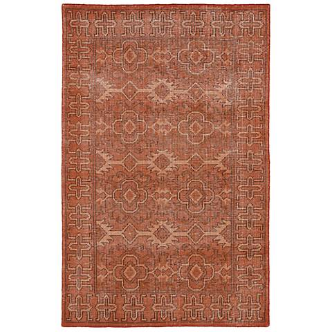 Kaleen Restoration RES04-53 Paprika Wool Area Rug