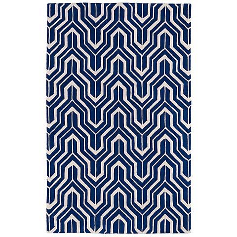 Kaleen Revolution REV01-22 Navy Wool Area Rug