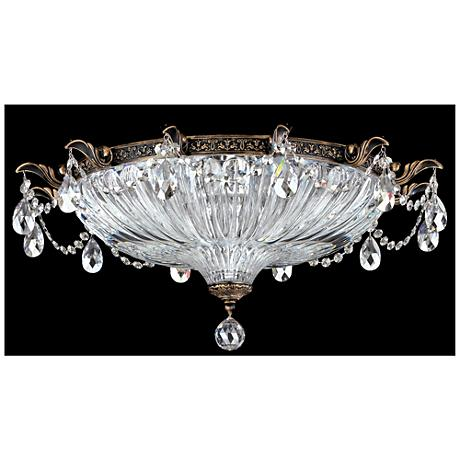 "Milano 22 1/2"" Wide Crystal Ceiling Light in Midnight Gild"