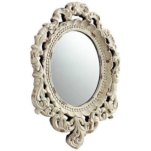 """Ornate Illusion 14"""" x 20"""" Rococo Style Wall Mirror"""