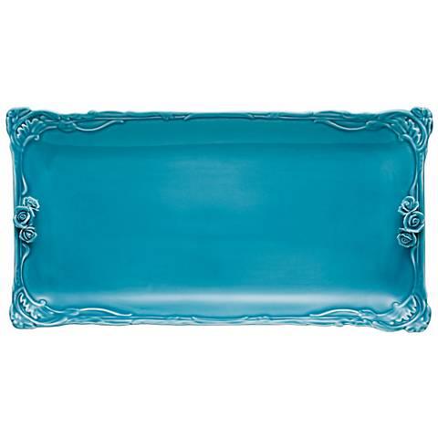 Dream A Little Aqua Blue Vanity Tray