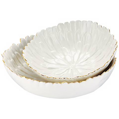 Mum White Earthenware Stacking Bowls Set of 2
