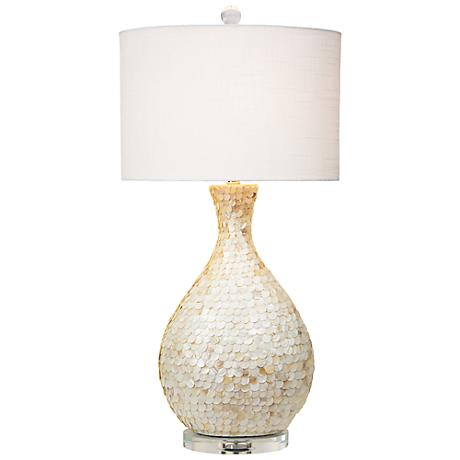 couture la pearla mother of pearl table lamp 5n860 lamps plus. Black Bedroom Furniture Sets. Home Design Ideas