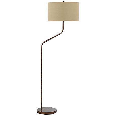 henderson rust metal floor lamp 5n861 lamps plus. Black Bedroom Furniture Sets. Home Design Ideas