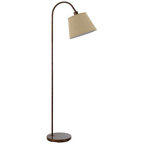 Covington Rust Metal Down Bridge Floor Lamp