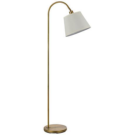 Covington Antique Brass Metal Down Bridge Floor Lamp