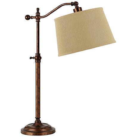 Wilmington Rust Down Bridge Desk Lamp