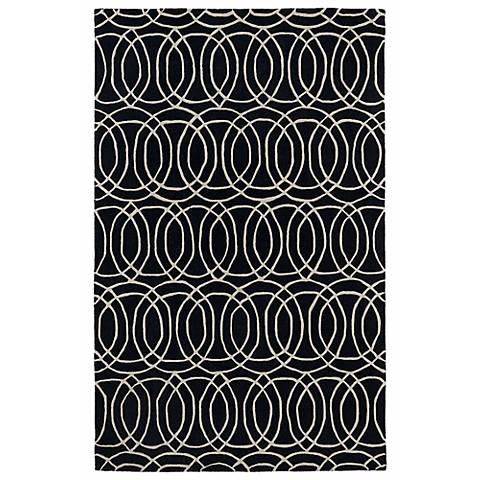 Kaleen Revolution REV02-02 Black Wool Area Rug