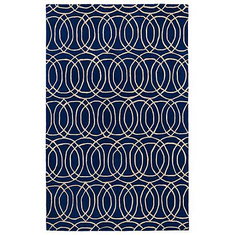 Kaleen Revolution REV02-22 Navy Wool Area Rug