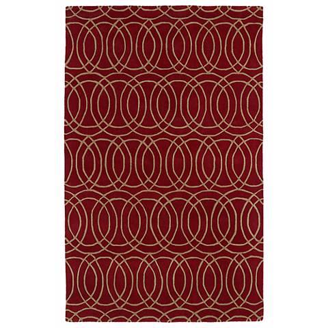 Kaleen Revolution REV02-25 Red Wool Area Rug