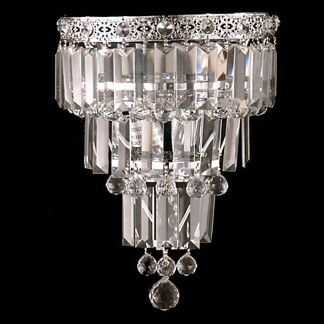 """Bradford 13"""" High Small Faceted Crystal Wall Sconce"""