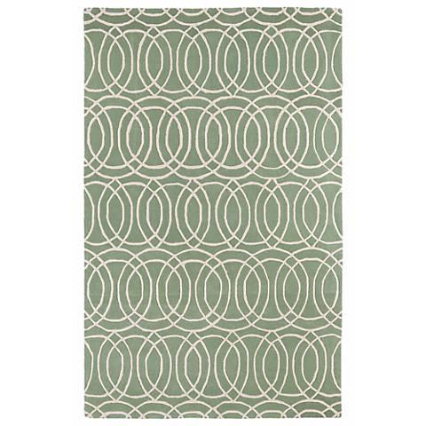 Kaleen Revolution REV02-88 Mint Wool Area Rug