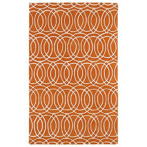 Kaleen Revolution REV02-89 Orange Wool Area Rug