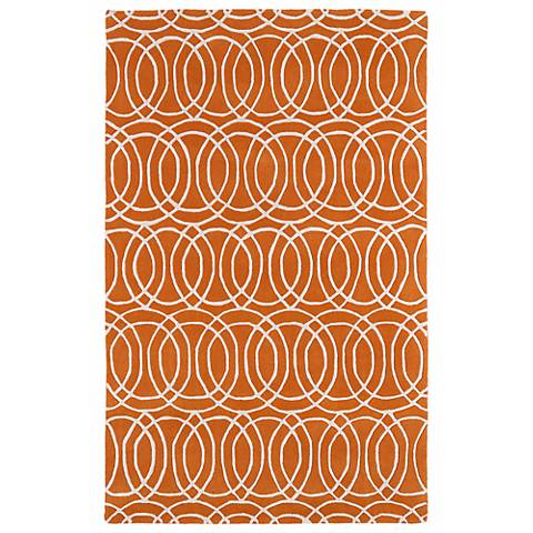Kaleen Revolution REV02-89 Orange Wool Area Rug