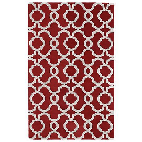 Kaleen Revolution REV03-25 Red Wool Area Rug