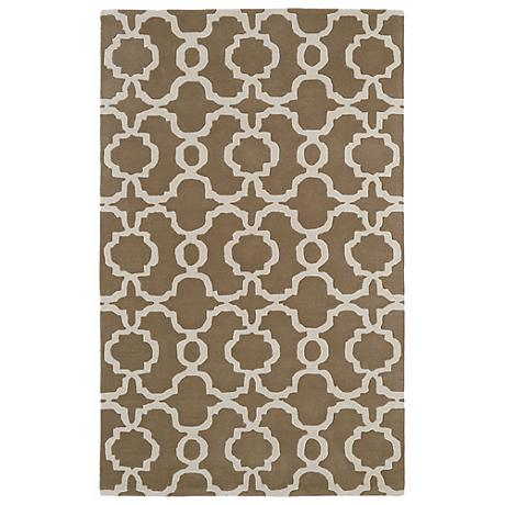 Kaleen Revolution REV03-82 Light Brown Wool Area Rug