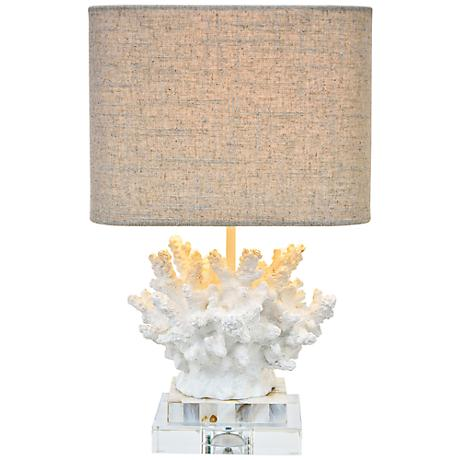 Couture Wayfarer Coral Mother of Pearl Accent Lamp
